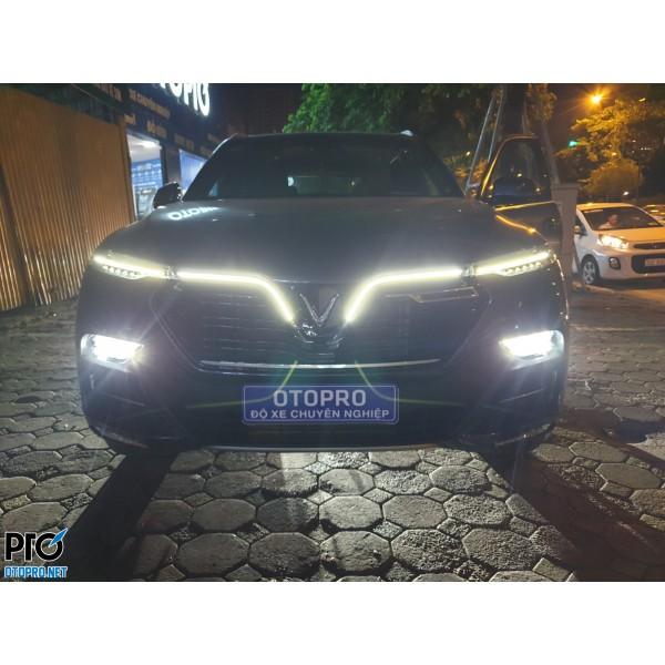 VinFast LUX SA độ bi pha LED X-light V20